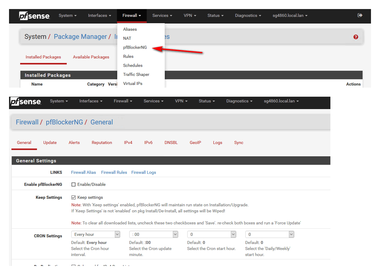 pfBlockerNG not showing in menus, tried reinstalling   Netgate Forum