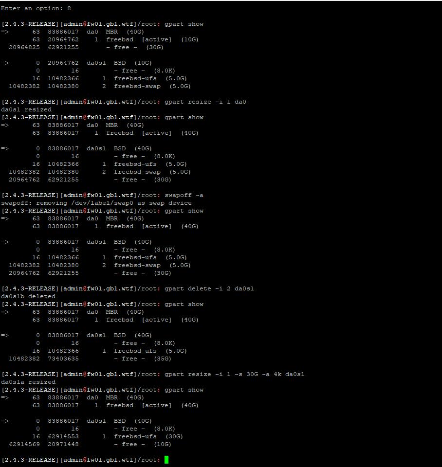 Pfsense VM Esx Increase disk size   Netgate Forum