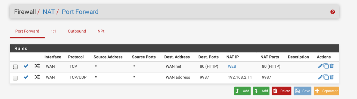 Solved]pfSense 2 4 3 Port Forwarding problem | Netgate Forum