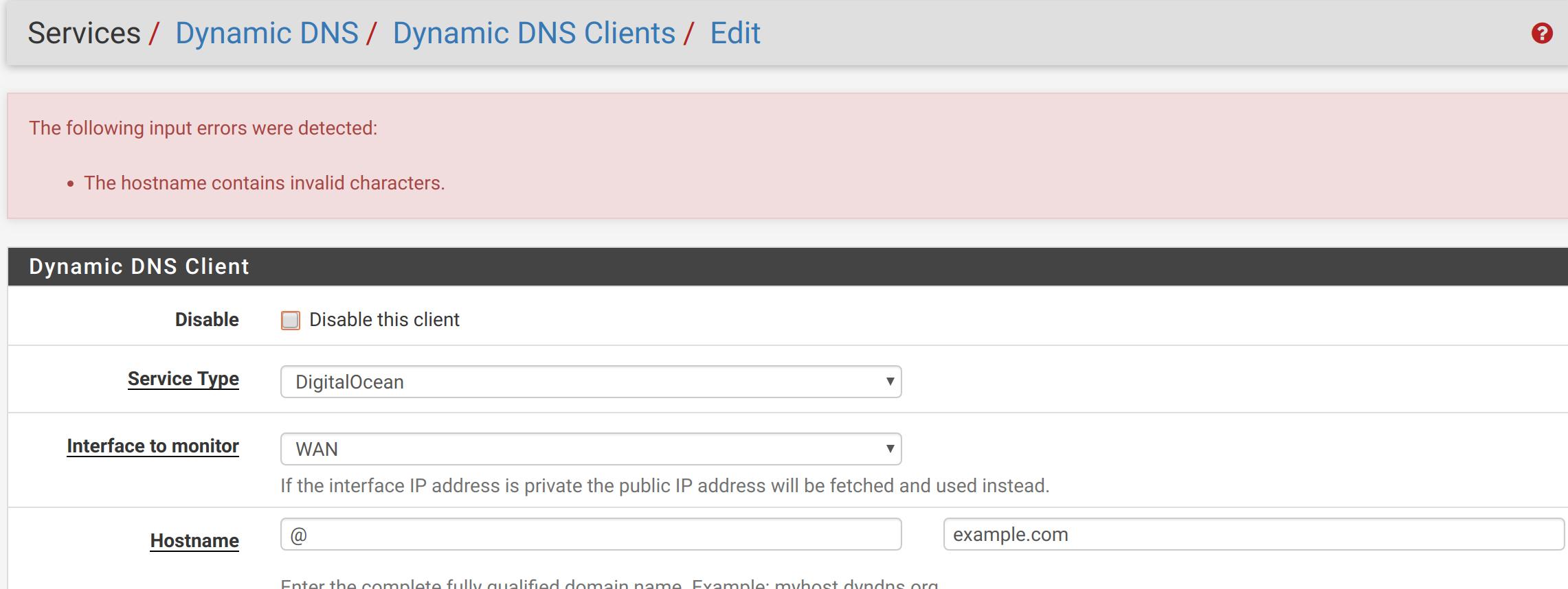 DigitalOcean Dynamic DNS | Netgate Forum