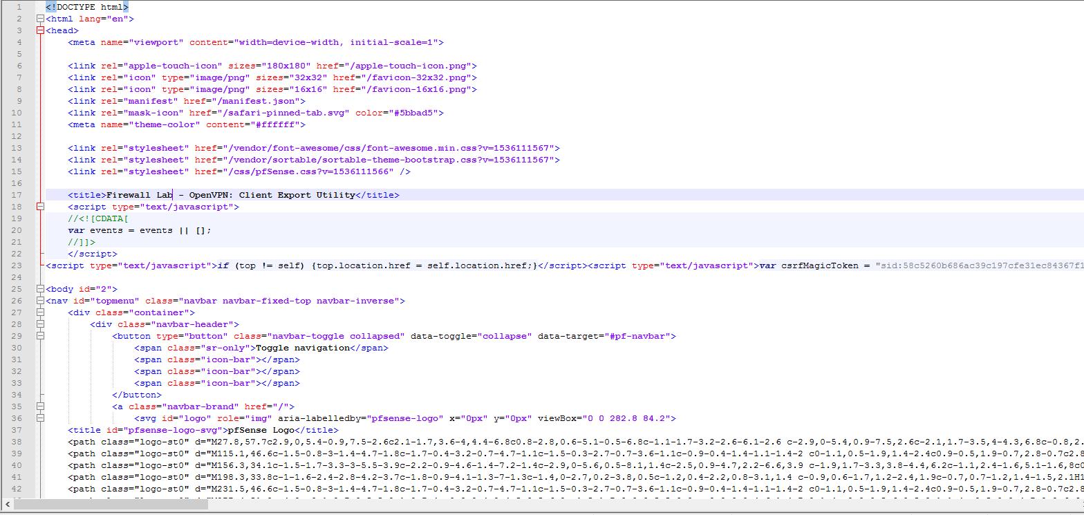 OpenVPN Client Export (Can't export real inline config  opvn
