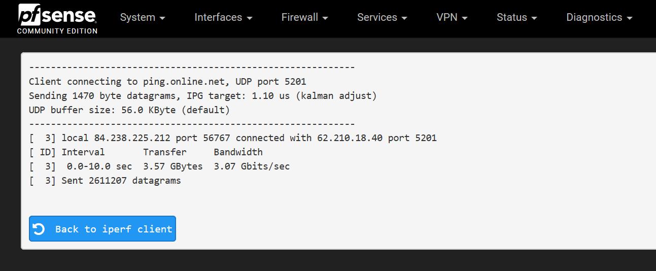 Iperf3 Maximum Bandwidth