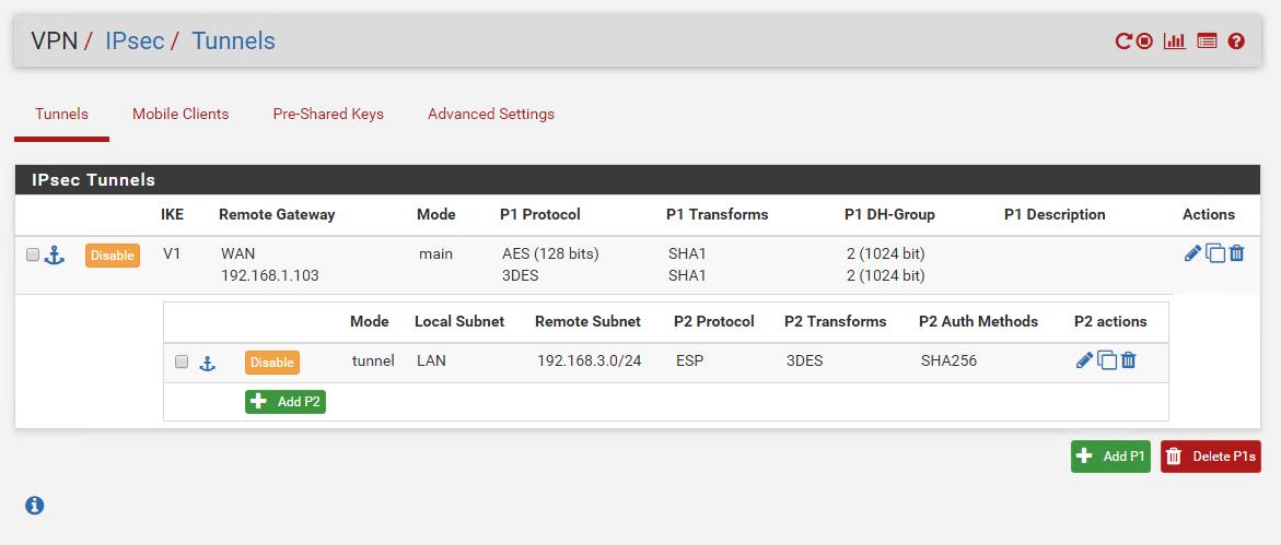 VPN between PfSense and Mikrotik IPsec no Phase2 | Netgate Forum