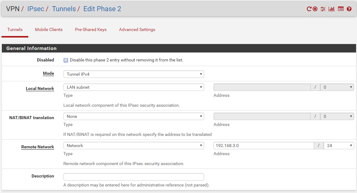 VPN between PfSense and Mikrotik IPsec no Phase2 | Netgate Forum
