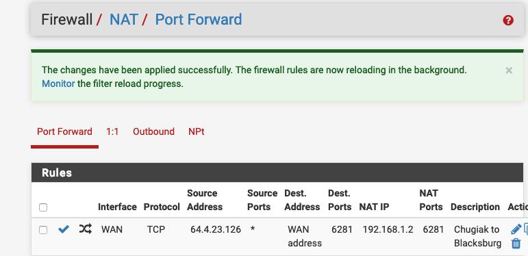 Pass specific IP through to LAN, port forwarding, firewall