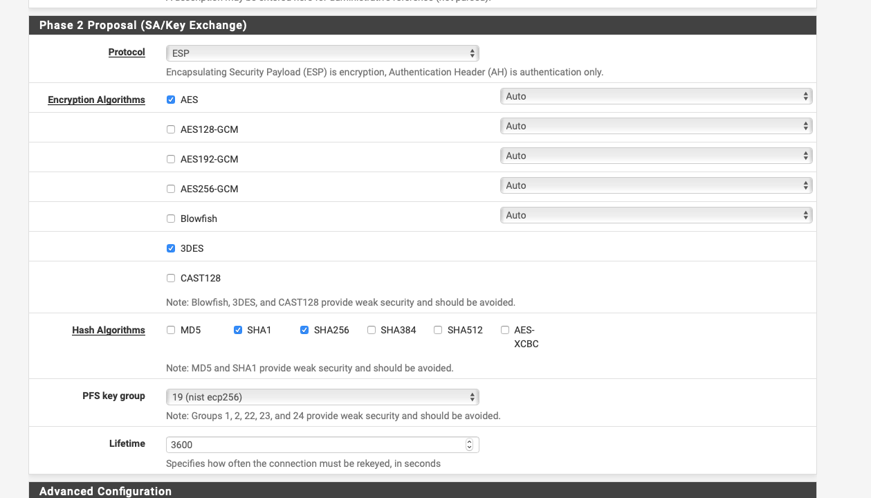 IKEv2 IPsec VPN with pfSense and Apple devices | Netgate Forum