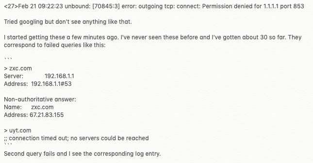 What does this Unbound error mean?