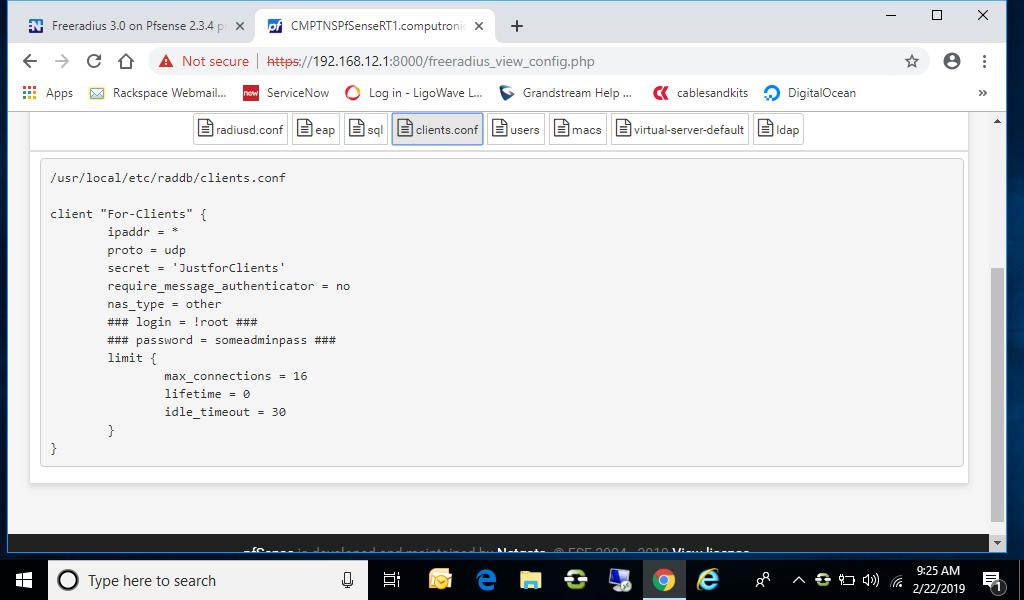 Freeradius 3 0 on Pfsense 2 3 4 problems | Netgate Forum