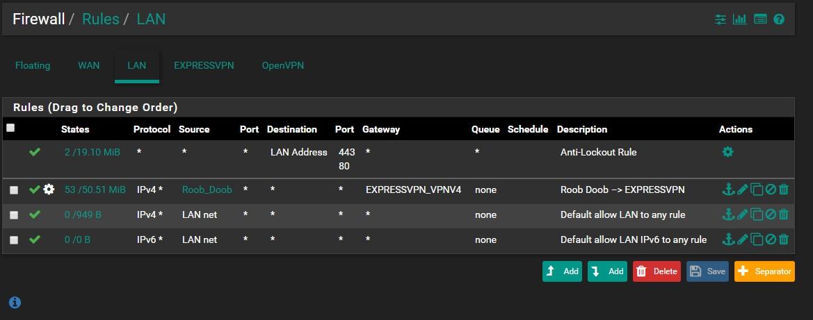 EXPRESS VPN DNS Edit: Issue resolved  | Netgate Forum