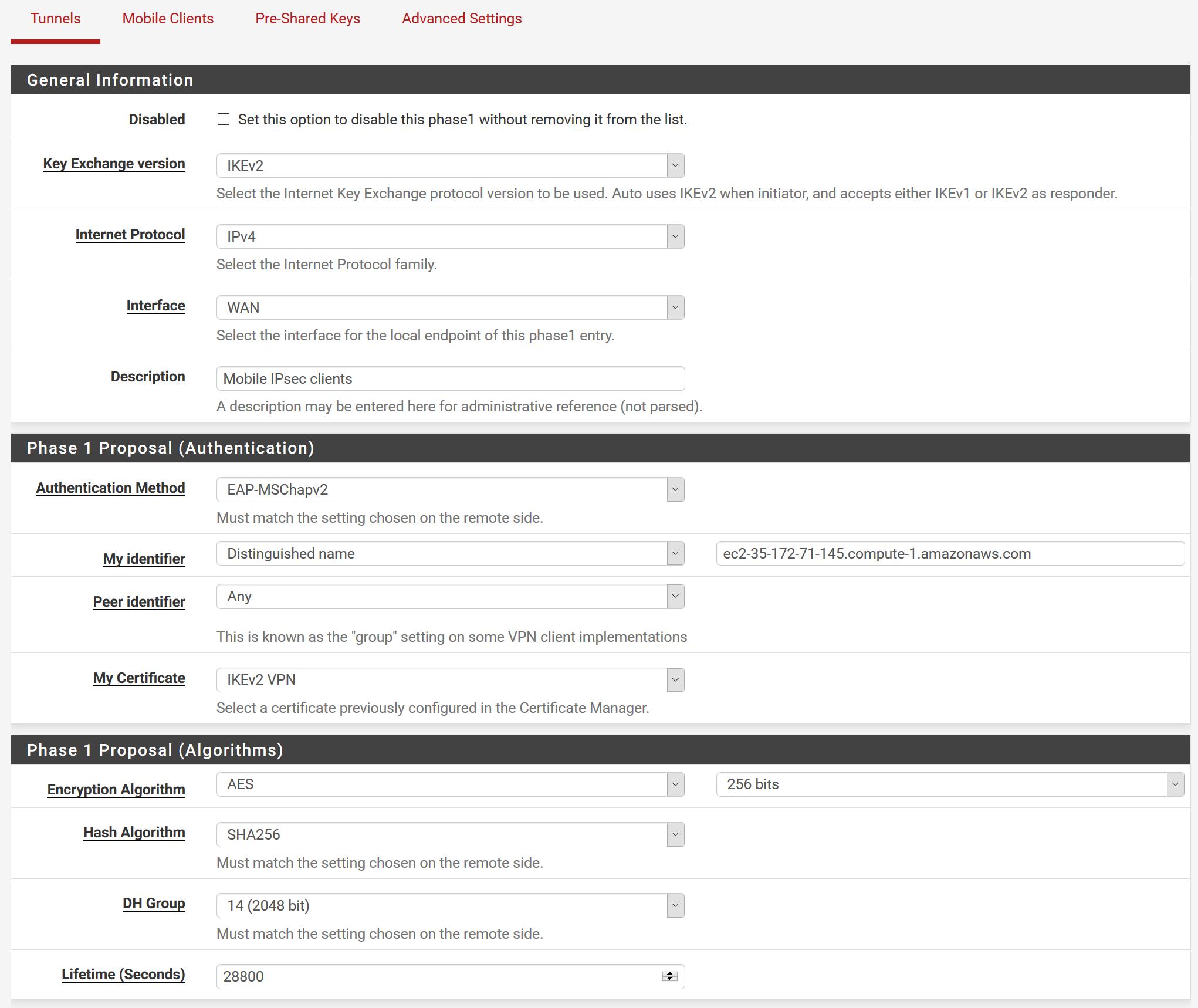 IPSec Mobile from AWS pfSense AMI to Windows 10 | Netgate Forum