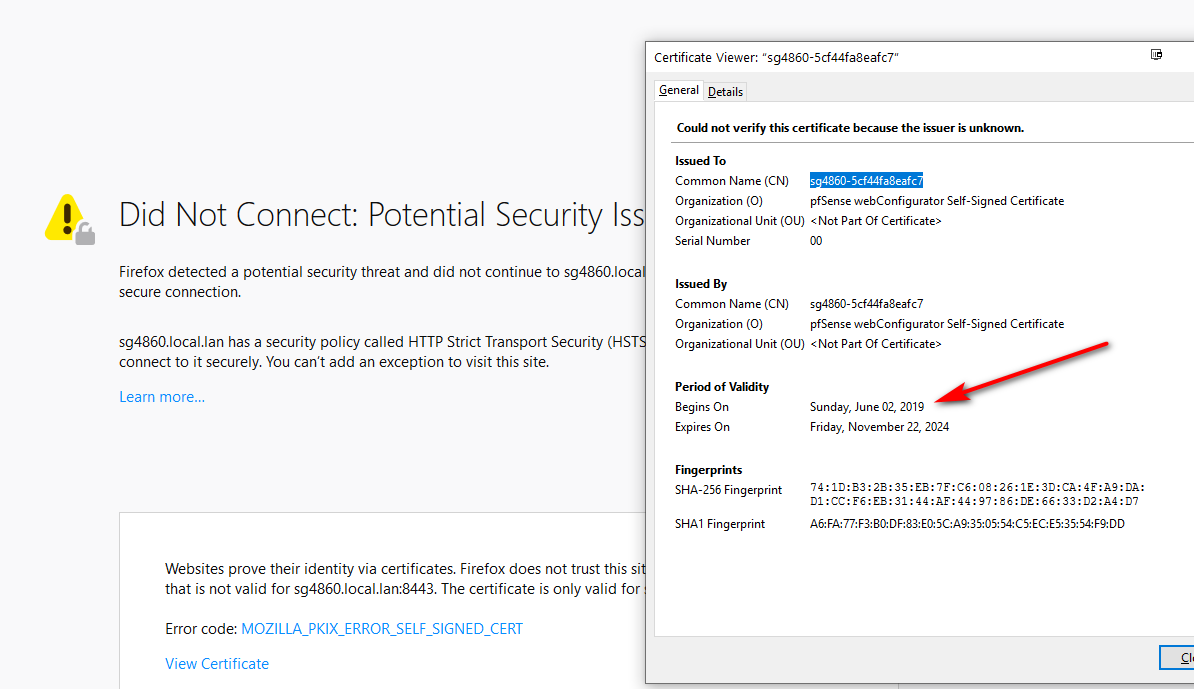 WebConfigurator default certificate expired yesterday | Netgate Forum