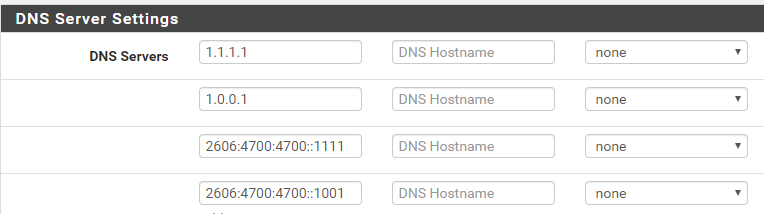 Cloudflare DNS IPv4 and IPv6 | Netgate Forum