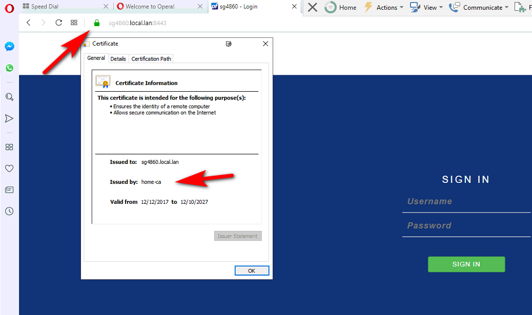 Opera Not Accepting Certificate (solved) | Netgate Forum
